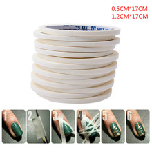 Nail stick nail tapes Belt Adhesive Tape Polish Tool size 0.5cm*17cm/1.2cm*17cm 1PCS