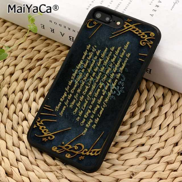 Lord Of The Rings MaiYaCa citações Telefone Case Capa para iPhone 5 5S SE 6 6 s 7 8 X XR XS borda max samsung galaxy S6 S7 S8 S9 Plus