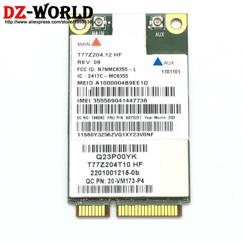 Unlocked Gobi3000 MC8355 3G GPS WWAN Wirless Network Card 60Y3257 Mini PCI-e HSPA EVDO for Thinkpad X230 X230i X230T X230 Tablet