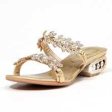 Plus size34-43 shoes Genuine Leather rhinestone Women's Sandals High Heels Shoes Lady Pumps Sandals Women Pumps High Heels Shoes