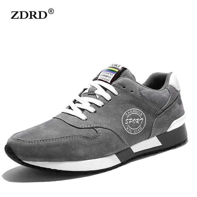 2016 Nueva Llegada de la Alta Calidad de Los Hombres Zapatos Para Caminar de Gamuza Hombres Entrenadores Zapatos de Los Hombres Respirables Al Aire Libre Zapatos con cordones de Los Hombres Zapatos de moda