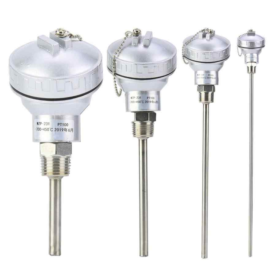 "RTD Pt100 Temperature Sensor Probe L 5cm 1//2/"" NPT Thread w// Detachable KH"