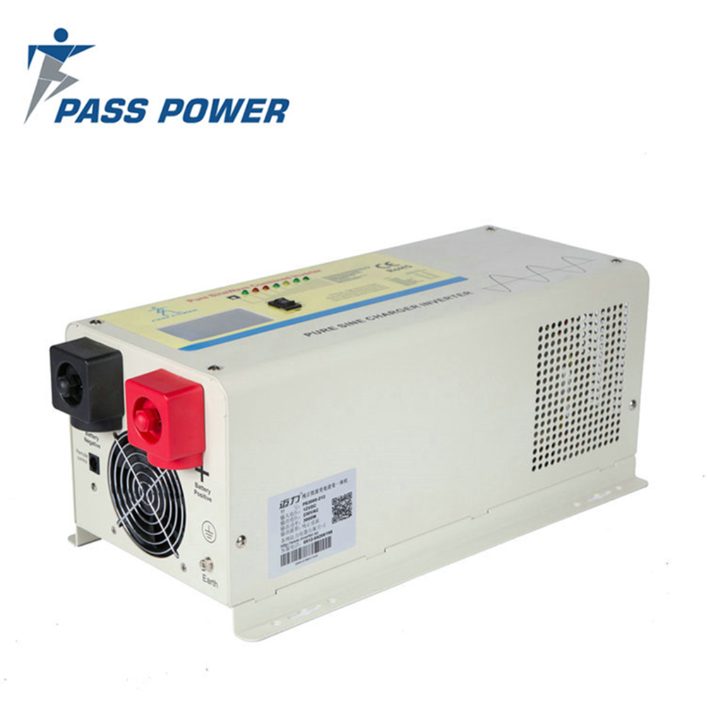 Free shipping off grid 12v 24v 48v low frequency 3000w air conditioner pure sine wave inverter with charger