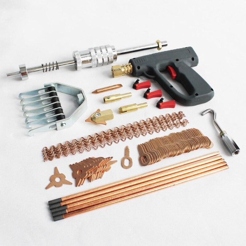 Dent puller kit di strumenti di riparazione del corpo di automobile spot elettrodi per saldatura spotter saldatore pistola rimozione straightenging ammaccature dispositivo di rimozione