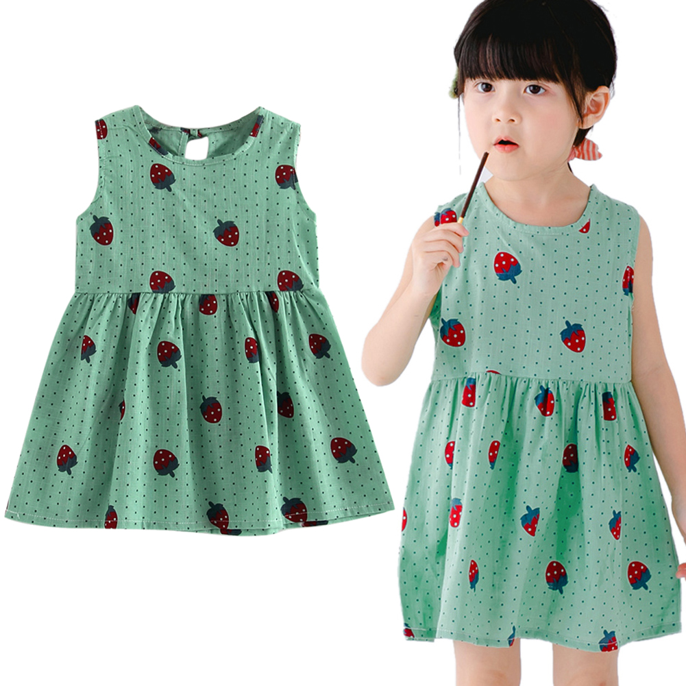 cute print children princess dresses baby girls a line