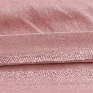Image 5 - 女性のプラスサイズ夏ミッドウエストゴム固体ストレートプリーツ綿100% 通気性パンツ女性特大汗ショーツ