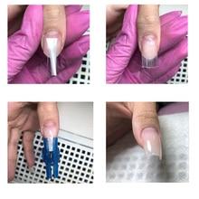 White Fibernails Fiberglass used for  Nail Extension Curvature Clips Silk box