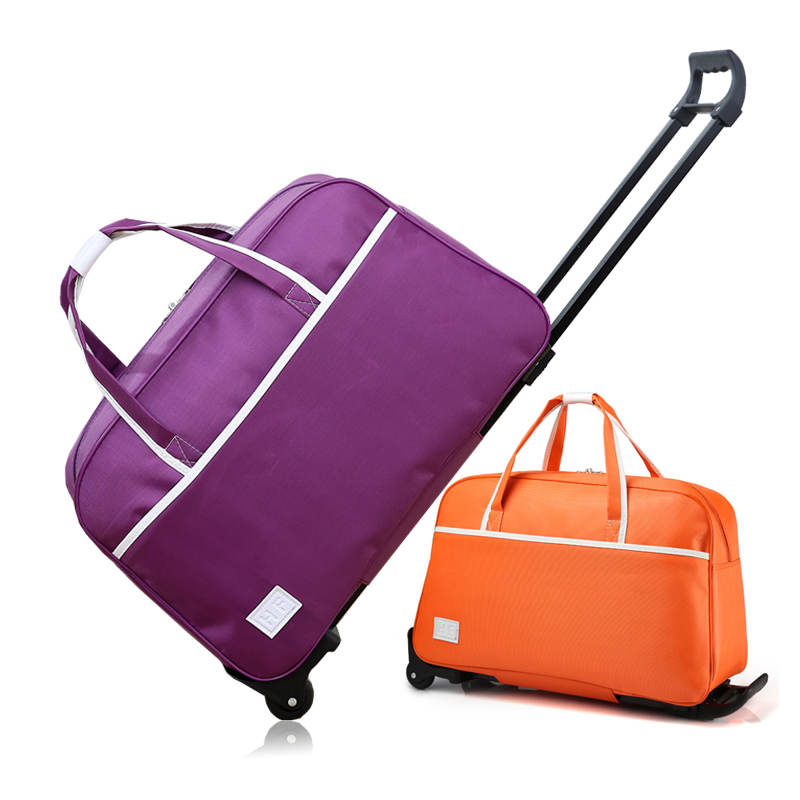 4513b3f9e3 New Rolling Luggage Bag On Wheels Trolley Luggage bag go Shopping Travel  Suitcases for Girls Women Handbag Luggage Boarding box