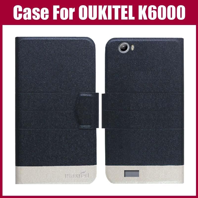 Πολύ καλή προσφορά! OUKITEL K6000 Case New Arrival 5 Colors Fashion Flip Εξαιρετικά λεπτό δερμάτινο προστατευτικό κάλυμμα για θήκη OUKITEL K6000