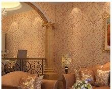 beibehang papel de parede 3D relief Damascus non-woven wallpaper living room restaurant bedroom background hudas beauty behang