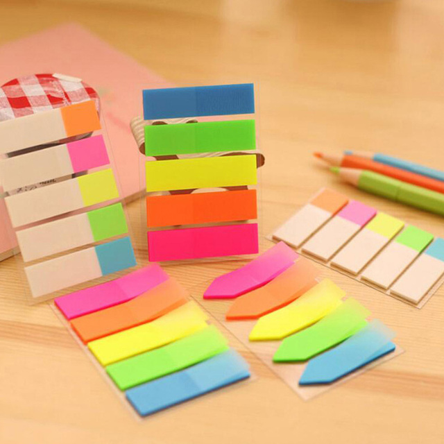 10 Sets Lot Colorful Note Paper Cute Stationary School Office Supplies Stickers Post It Notes
