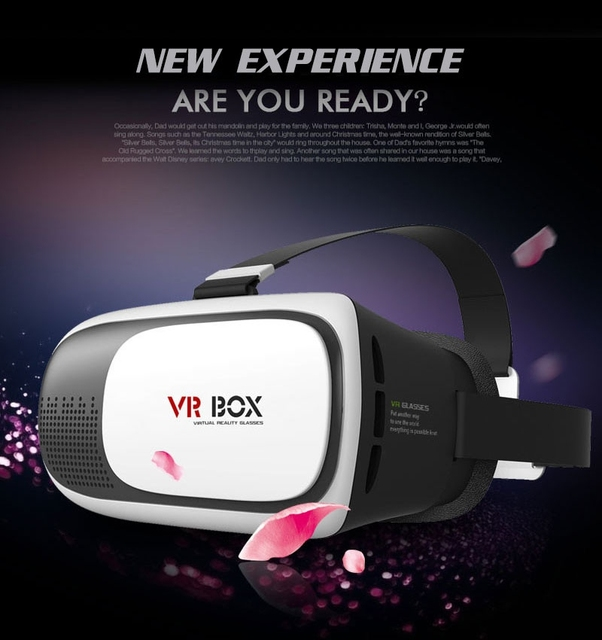 2016 New version 2.0 VR II VR wearing virtual reality glasses 3D 3.5 - 6 inches smart phone for samsung for htc for huawei phone