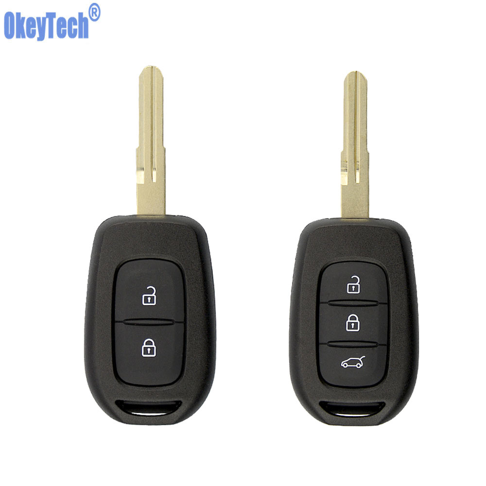 OkeyTech 2 3 Buttons Car Key Case For Renault Scenic Master Megane Duster 2016 2017 Logan Clio Captur Laguna Fluence FOB Cover