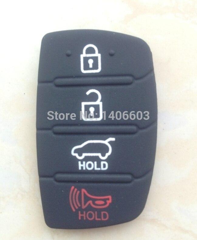 Replacement Auto Parts Replacement Case Car Key Rubber Pad For Hyundai IX45 Santa 50pcs