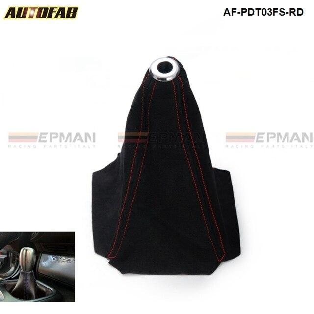 Universal Jdm Black Suede Shift Boot For M/T Manual Shift Gear Cover Shifter Stitch For Honda Civic J 99-00 AF-PDT03FS