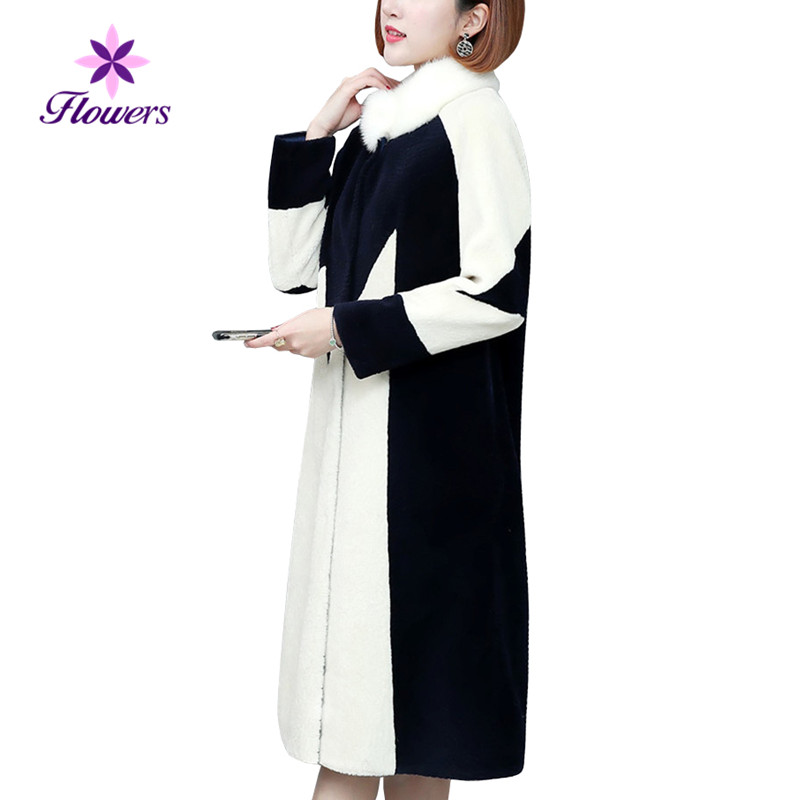 Stand De Taille Faux Mode Hiver Fourrure Shown coréen Manteau Femmes As Lry345 Plus Long Bouton Élégant Mince Des Nouvelle Couvert La eEdBoQrxCW