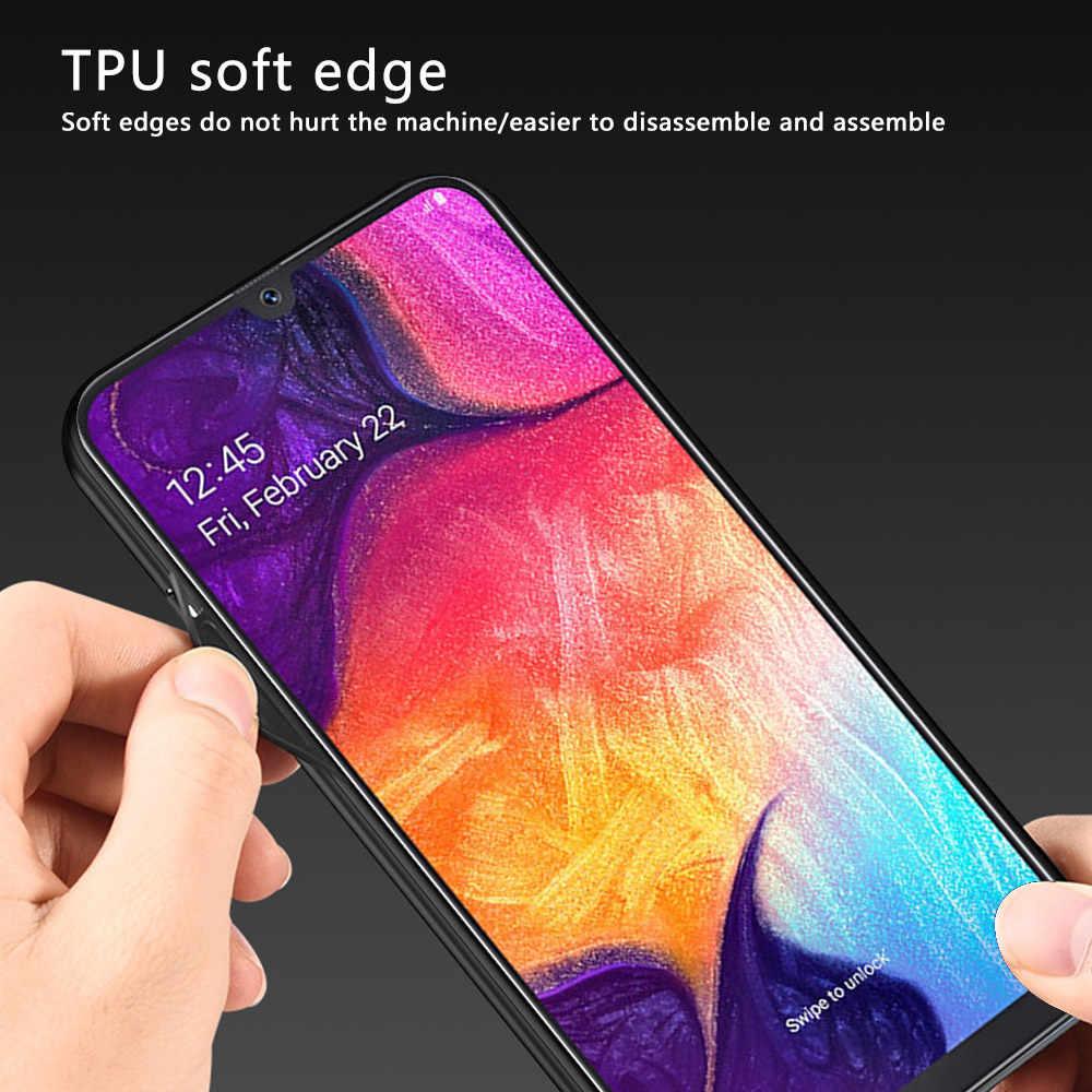 Caso para Samsung Galaxy A50 caso de lujo de tela para Samsung Galaxy A50 cubierta del teléfono de tela suave de silicona TPU Shell