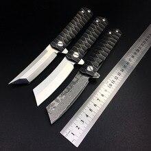 Kwaiken D2 Tanto סכין מתקפל טקטי תער דמשק נושאות ציד הישרדות כיס סכינים חיצוני Combat קמפינג EDC כלי