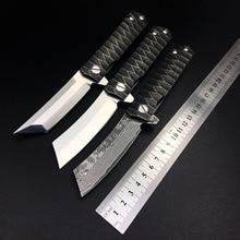 Kwaiken D2 tento складной нож, тактическая бритва, дамасский подшипник, охотничий карманный нож для выживания, открытый боевой Кемпинг EDC инструмент