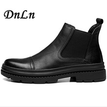 New Style Men Shoes Cow Suede Leather Winter Men Boots Chelsea Casual Comfortable Shoe D50