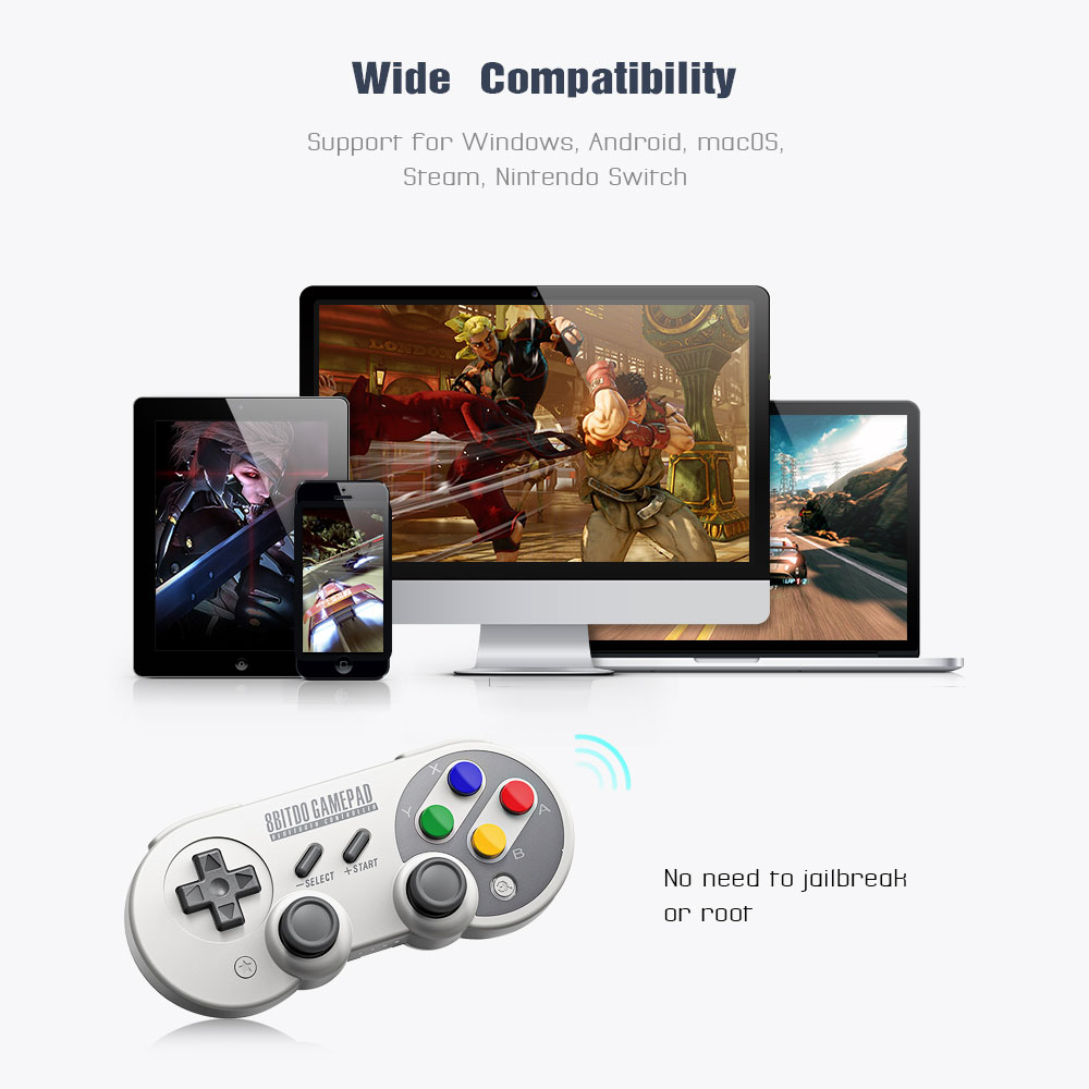 Official 8BitDo SF30 Pro Wireless Bluetooth Gamepad Controller with Joystick for Windows Android macOS Nintendo Switch Steam 11