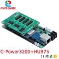Светодиодный Одноцветный и двухцветный движущийся знак контроллер карта люмен C-Power3200/30A поддерживает анимацию изображение текст часы темп...