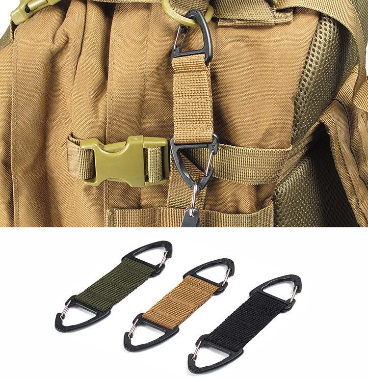 Dropshiping 2017 Multipurpose -Ring Locking Hanging Hook Tactical Link Snap Keychain Outdoor Tools W25