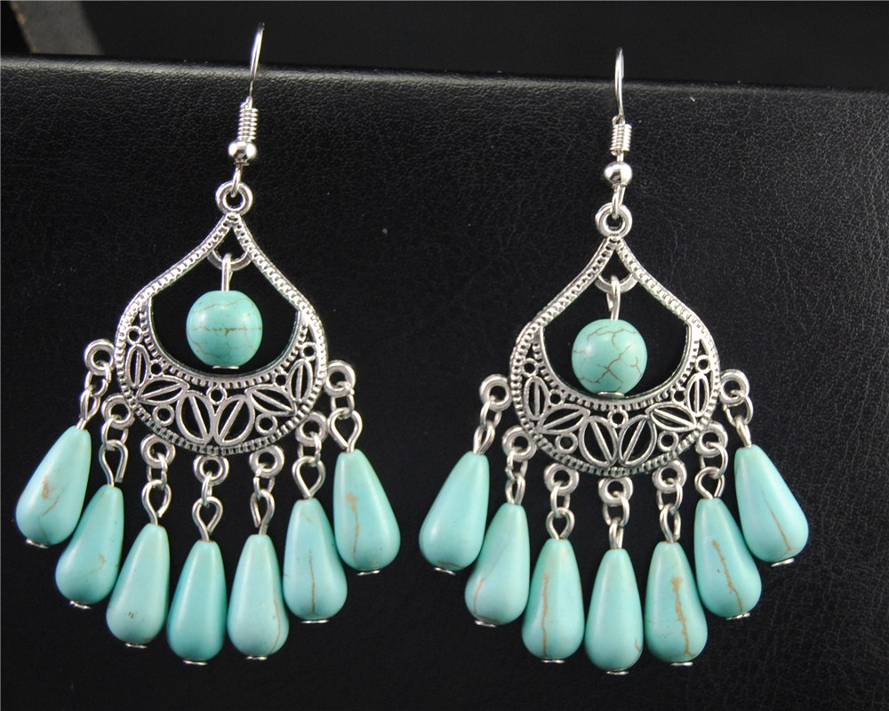 1pair2pcs tibetan silver blue beads chandelier charm dangle drop 1pair2pcs tibetan silver blue beads chandelier charm dangle drop earrings handmade diy jewelry e577 in drop earrings from jewelry accessories on arubaitofo Choice Image