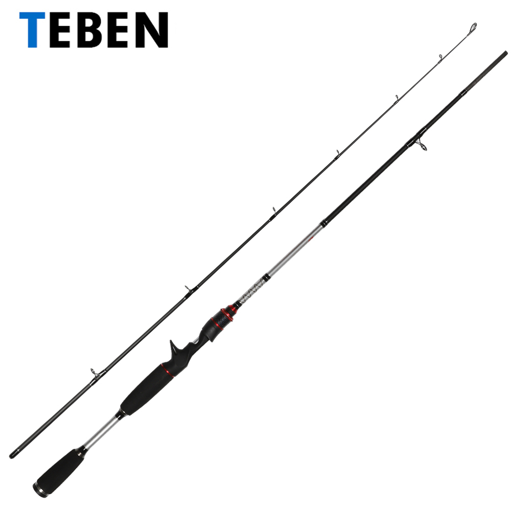 TEBEN MH Super Hard Ultra Light Carbon 2.1m Casting Spinning Fishing Rod 2 Section Portable Lure Weight 5-25g Fishing Rod Pole casting lure rod mh power 2 section 2 28 2 4m carbon fishing snakehead super strong fish pole