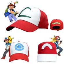 Costume de Cosplay de monstre de poche, chapeaux, casquette Pokemon Ash Ketchum, Baseball
