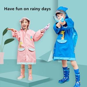 Image 5 - Kocotree นักเรียนกระเป๋าเป้สะพายหลัง Raincoat เด็กทารกการ์ตูน Rainproof Rain Coat หญิงและชายกันน้ำ Poncho Rain Cover