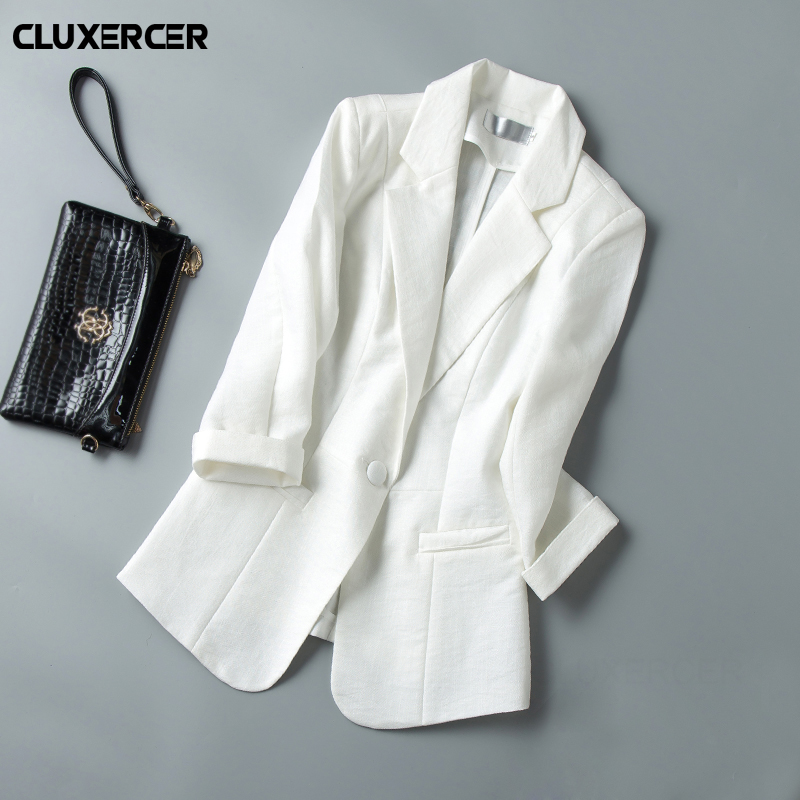Plus size 5XL Ladies Blazers Women 2018 new Spring Women Single Button Suit Jacket Blazer Femme Office Tops Coats chaqueta mujer