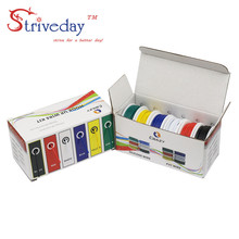 60 m box ul 1007 24awg electrical wire airline tinned copper pcb wire 6 colors mix stranded wire kit each colors 32 8 feet UL 1007 28AWG 60m/box Electrical Wire Cable Line 6 colors Mix Kit Airline Copper PCB Wires stranded wire DIY