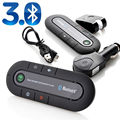 High Quality Tricolor Wireless Bluetooth Car Multipoint Speakerphone Slim Magnetic Handsfree Car Kit Visor Clip