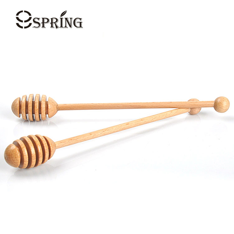 Wood Honey Dipper Stick Wooden Honey Spoon Tea Stirrer Mixing Long Handle Spoon Wood for Honey Jar Tea Party Supply