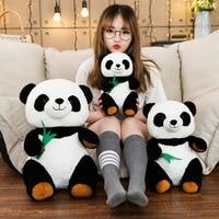 Горячее предложение 1 шт. 30/40/50 см с мультипликационным принтом «панда» с бамбуковой набитое Мягкое Животное, кукла для Одежда для детей; мал...