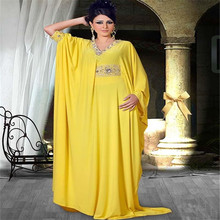 2016 Caftan Long Dubai Muslim Kaftan Abayas Arabic Turkish For Sale Evening Robe Abayas For Woman Islamic Clothing