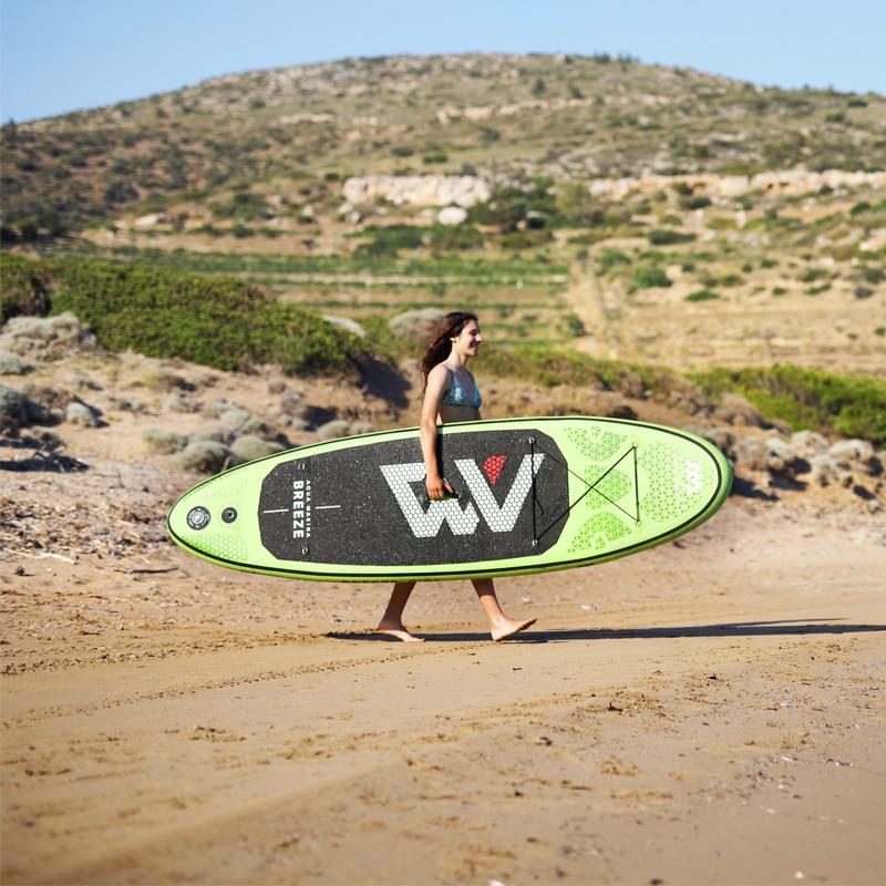 new surfboard 275*76*12cm AQUA MARINA BREEZE inflatable SUP stand up paddle board fishing kayak inflatable boat leg leash seat цена