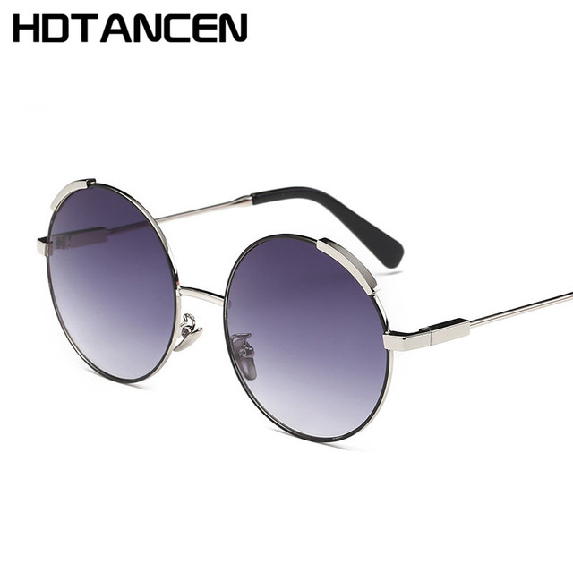 370df226eb0a18 HDTANCEN Vintage Ronde Steampunk lunettes de Soleil Femmes Hommes Mode  Rétro Cercle Métal Vapeur Punk lunettes