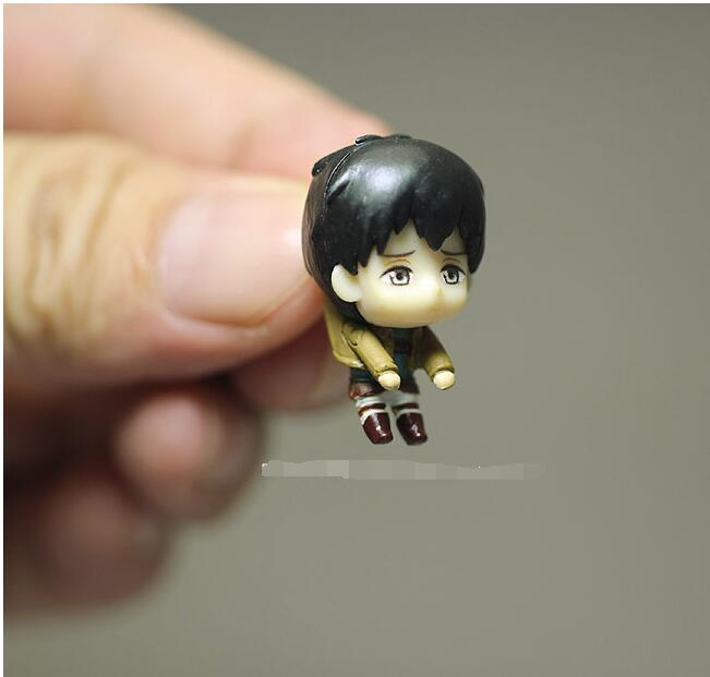 60pcs/lot 3cm Attack on Titan very small figure toys the cute Attack on Titan  Action Figures Model figures