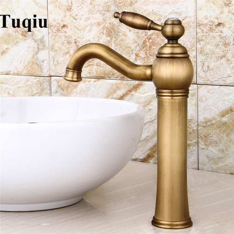 Rotating Bathroom Sink Faucet Antique Bronze Basin Faucet Water Tap Cold and Hot Lavatory Mixer Water Torneira lavatorio