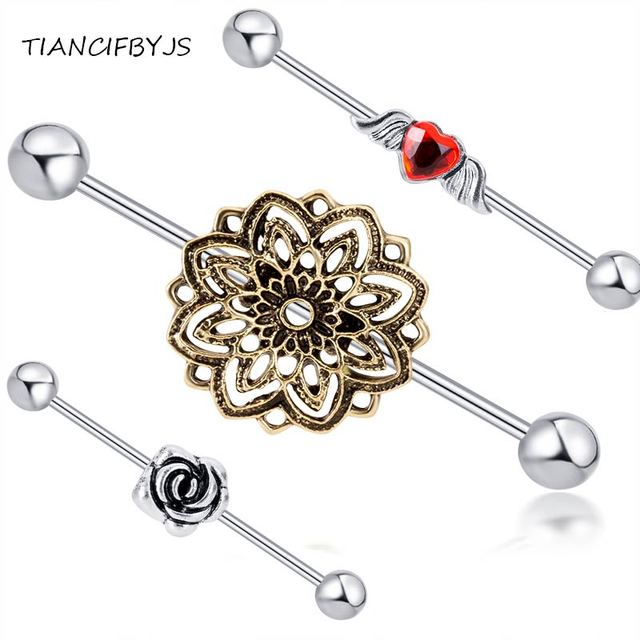 Aliexpress Com Buy Tiancifbyjs Flower Rose Angle Piercing