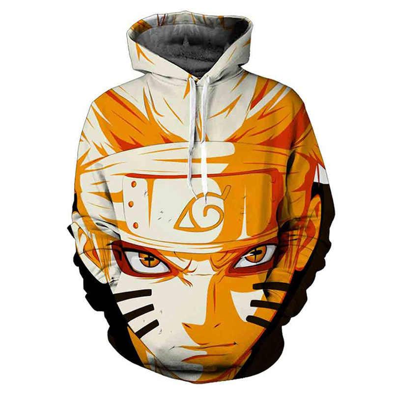 Naruto Hoodie 3D Cetak Pullover Olahraga Kaus Uzumaki Uchiha Sasuke Itachi Hatake Kakashi Gaara Atasan Hoodie Pakaian