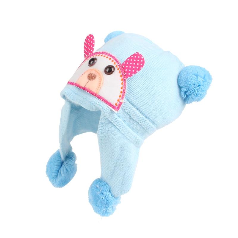 Плюшена шапка за бебешки момичета  - Бебешки дрехи - Снимка 4
