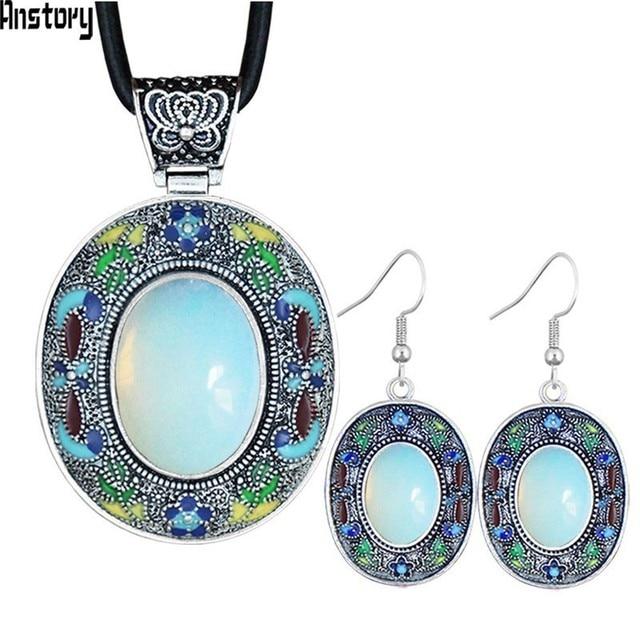 Vintage Oval Opal Jewelry...