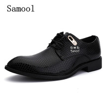 SAMOOL Fashion Formal Mens Dress Shoes Classic Shoes Oxford Men Genuine Leather Italian Business Party Shoes For Man