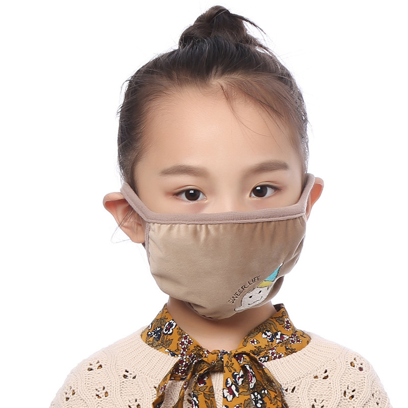 Boys Girls Kids Cotton Masks Anti-pollution Cute Children Mouth Mask Windproof Anti-Dust Face Masks