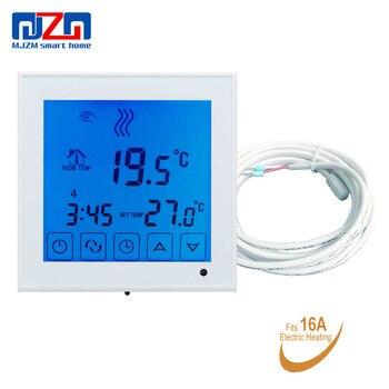 Termostato de pantalla táctil MJZM 16A03-1 para calefacción por suelo radiante eléctrico termorregulador de temperatura Digital de suelo cálido