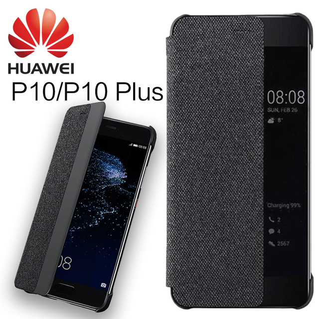 the latest 73912 3ba5f US $8.49  HUAWEI P10 case cover 100% Original Flip Cover Smart Window Auto  Wake UP Leather silicon for P10 Plus protect case 5.2''/5.5'' -in Flip ...