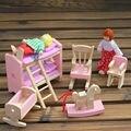 Muñeca de Cama Litera de madera Muebles de casa de Muñecas En Miniatura Para Niños Niño play toys baby toys juguete educativo de madera de juguete de regalo # 1jt f